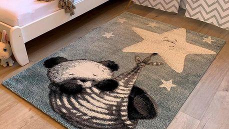 Vopi Kusový dětský koberec Kiddo 1083 blue, 120 x 170 cm