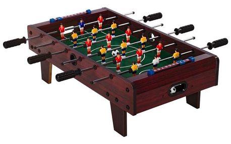 Tuin 40543 Mini stolní fotbal fotbálek s nožičkami 70 x 37 x 25 cm - tmavý