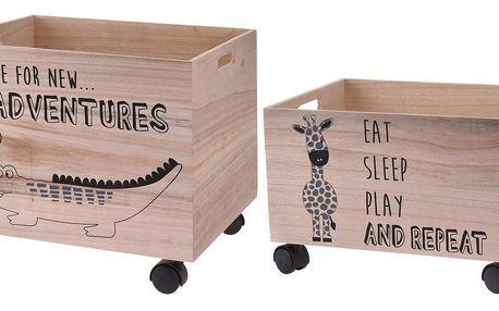 Sada dekoračních úložných boxů Hatu Krokodýl a žirafa