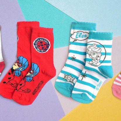 Dívčí ponožky s Frozen, My Little Pony i LOL