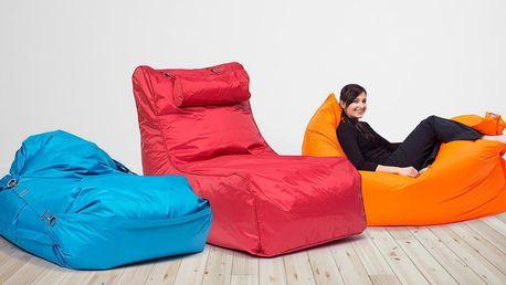 Odolné sedací pytle na doma i ven: různé barvy