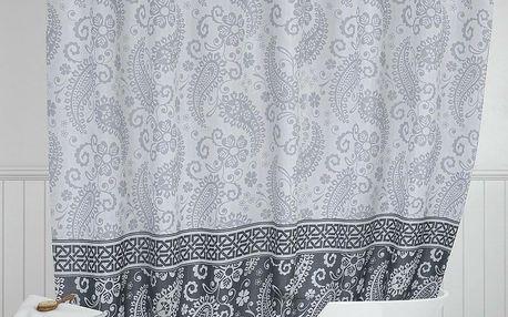 Bellatex Sprchový závěs Kašmír šedá , 180 x 200 cm