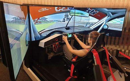 Pohyblivý závodní auto simulátor v Praze