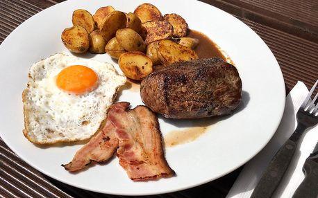 Steak z pravé svíčkové s brambory grenaille