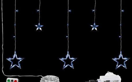 VOLTRONIC® 67310 Vánoční závěs - 5 hvězd, 61 LED, studeně bílý + ovladač