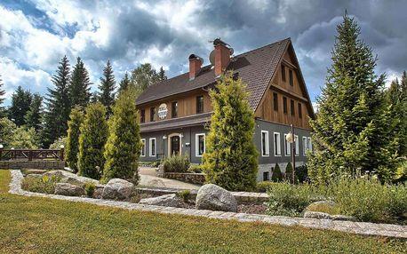Podzim a zima v hotelu Perla Jizery pro 2 osoby s polopenzí a wellness v Jizerských horách