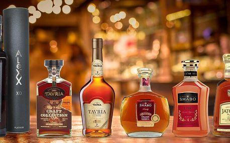 Prémiové ukrajinské brandy zrající až 15 let