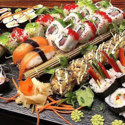 24–70 ks sushi: sety s lososem, úhořem i vege