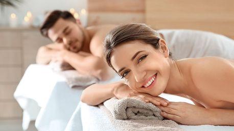 80 min. romantického hýčkání s masáží pro dva