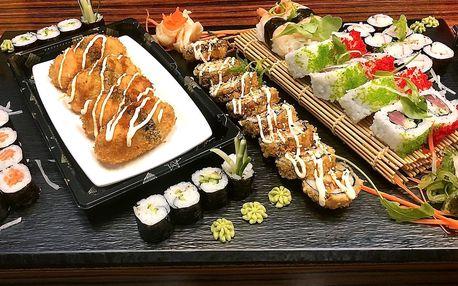 Sety s 24–70 ks sushi: s rybami i vegetariánský