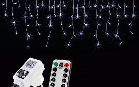 VOLTRONIC® 59796 Vánoční světelný déšť 600 LED studená bílá - 15 m + ovladač