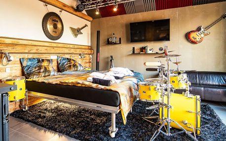Rockerský apartmán s wellness i sadou bicích