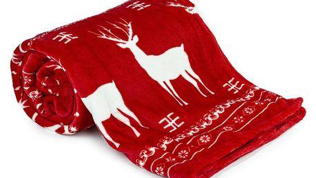 Deka Light Sleep New Jelen červená, 150 x 200 cm