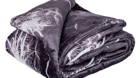 Jahu Deka XXL / Přehoz na postel Pampeliška grey, 200 x 220 cm