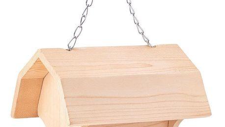 Woody Dřevěné krmítko pro ptáky, 4 barvy a štětec, 19 x 13,5 x 16 cm