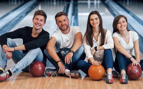 Hodina bowlingu až pro 4 hráče a 1,5 kg řízků