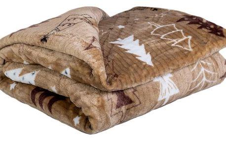 Jahu Deka Light Sleep New Stromy hnědá, 150 x 200 cm