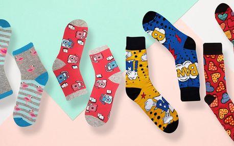Dámské, pánské i dětské ponožky s hravými motivy