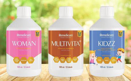 Multivitaminy v tekuté formě nejen pro ženy a děti