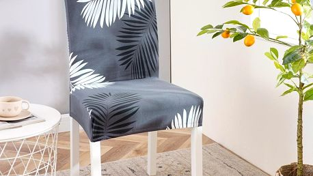 4Home Napínací potah na židli Noir, 45 - 50 cm, sada 2 ks