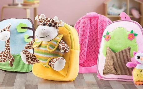 Roztomilé plyšové batůžky pro malé cestovatele