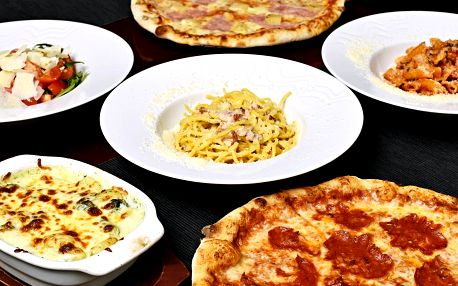 Pizza, těstoviny nebo salát dle výběru pro 1 či 2 osoby
