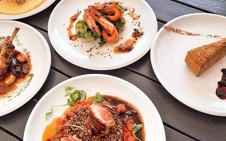 3chodové menu v centru Vyškova: krevety, jehněčí i kuře