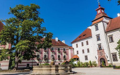 Renesanční hotel v Třeboni se stravou i wellness