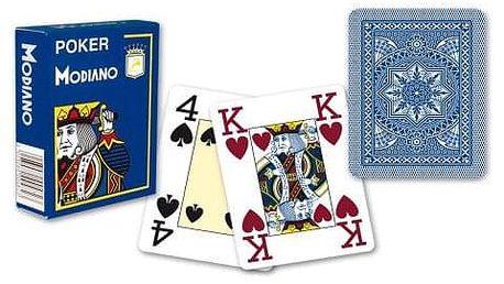Modiano 2318 100% plastové karty 4 rohy - Modré
