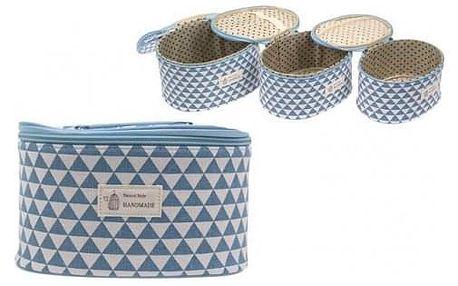 Kufřík kosmetický 3 v 1 modrý