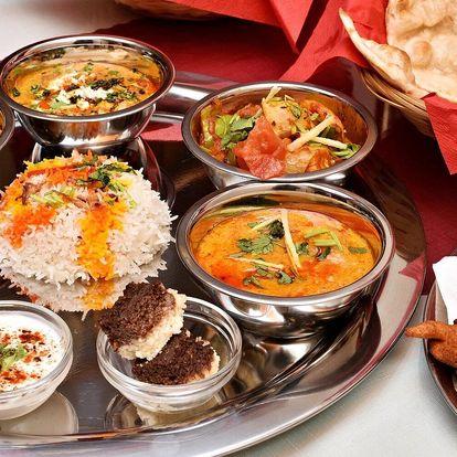 Indické vegetariánské i masové menu pro 2 os.