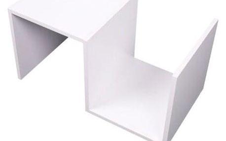 Tempo Kondela Příruční stolek Valmar, bílá