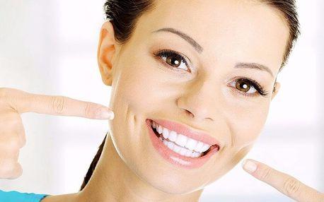 Profesionální ordinační bělení zubů modrým světlem