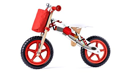 Woody Odrážedlo Motorka, červená
