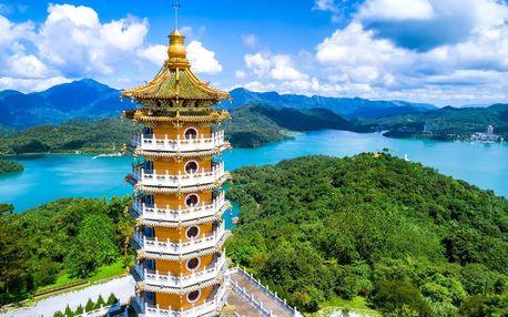 Tchaj-wan letecky na 12 dnů, snídaně v ceně