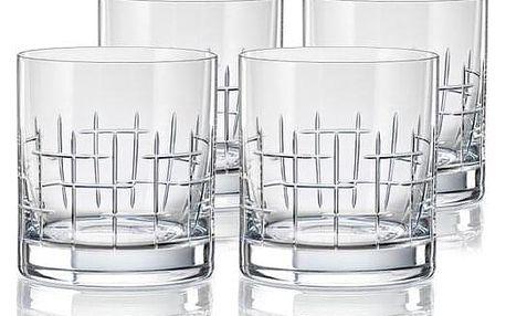 Crystalex CXBR079 4dílná sada sklenic na whisky, 280 ml