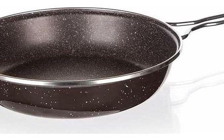 Banquet Pánev smaltovaná GRANITE Dark Brown, 24 cm