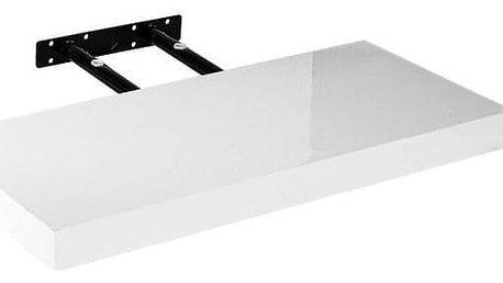 Stilista Volato nástěnná police, 30 cm, lesklá bílá