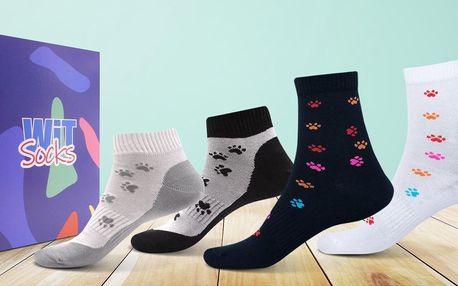 Veselé ponožky s motivem psích tlapek