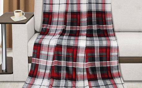 Bellatex KEMPING PLUS Červené čtverce, 150 x 200 cm