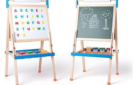 Woody Oboustranná tabule ABC, 59 x 57 x 129 cm