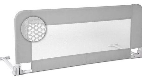 Infantastic 74187 Dětská zábrana na postel, 102 cm, šedá