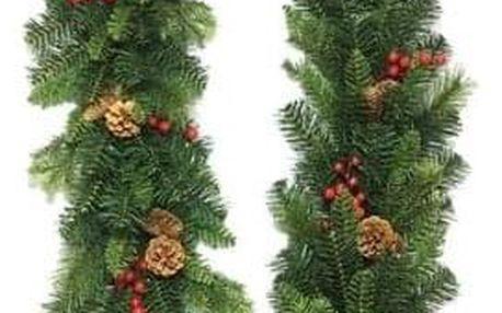 Vánoční girlanda Savona zelená, 200 cm