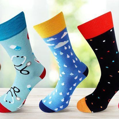 Pánské i dámské ponožky s hravými vzory