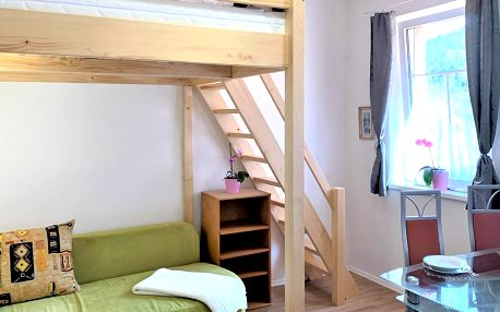 Vybavený apartmán u Harrachova až pro 4 osoby