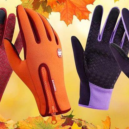 Zateplené rukavice s úpravou pro dotykové displeje