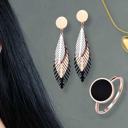 Minimalistické šperky z pozlacené chirurgické oceli
