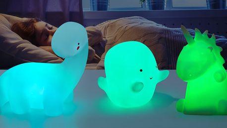 Dětská LED lampička: duch, dinosaurus i jednorožec