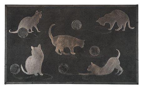 BO-MA Trading Venkovní rohožka Kočky, 45 x 75 cm