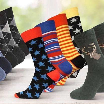 Pánské ponožky: veselé, puntíkaté i bez vzoru